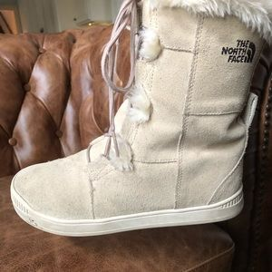 North Face Suede Winter Boots